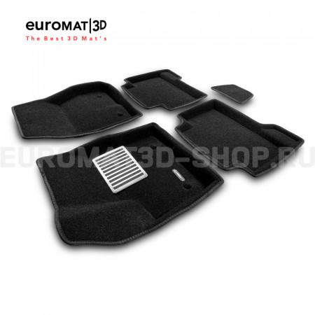 Текстильные 3D коврики Euromat3D Lux в салон для Ford Kuga (2013-) № EM3D-002210