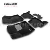 Текстильные 3D коврики Euromat3D Business в салон для Skoda Octavia A7 (2013-2020) № EMC3D-004507