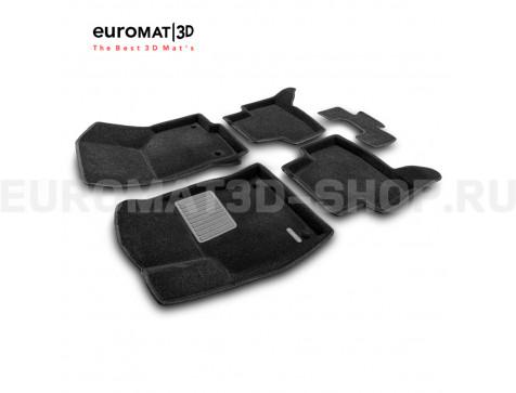 Текстильные 3D коврики Euromat3D Premium в салон для Audi A3 (2014-) № EMPR3D-004507