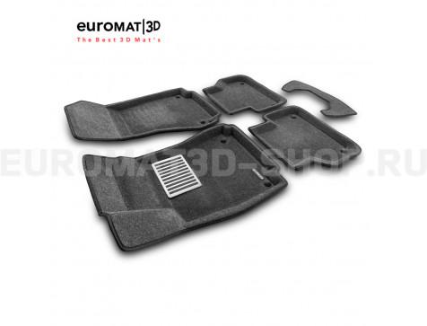 Текстильные 3D коврики Euromat3D Lux в салон для Audi A5 (2016-) Sportback № EM3D-001102G Серые